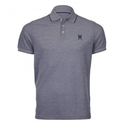 2 TONE PIQUE MERCERISED POLO
