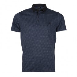 GEO JACQUARD MERCERISED POLO
