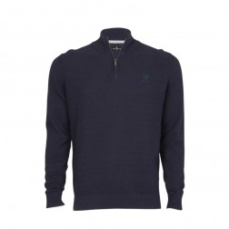 1/4 ZIP TEXTURED KNIT