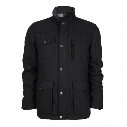 WOOL MARL UTILITY JACKET
