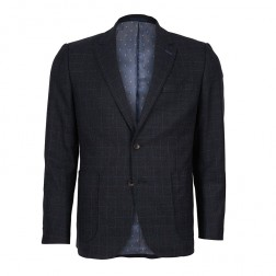 WINDOWPANE CHECK WOOL BLAZER