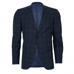 IVY LEAGUE SLIM FIT SHADOW CHECK JACKET