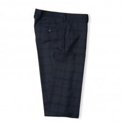 IVY LEAGUE SLIM FIT SHADOW CHECK TROUSERS