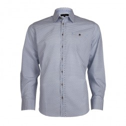JEFF BANKS WHITE PRINT SLIM FIT