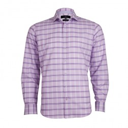 LINEN-BLEND CHECK SLIM FIT