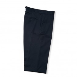 NAVY TAILORED FIT TWILL TROUSERS