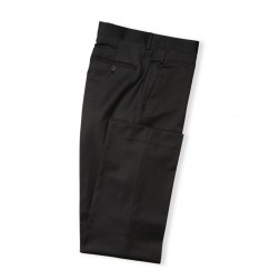 CHARCOAL TAILORED FIT 2 TONE TWILL TROUSERS