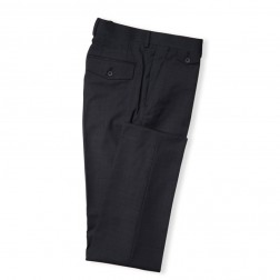NAVY SLIM FIT CHECK TROUSERS
