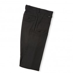 CHARCOAL SLIM FIT PINPOINT TROUSERS