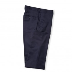 BLUE SLIM FIT PLAIN TROUSERS