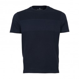 TEXTURED FRONT JERSEY TEE