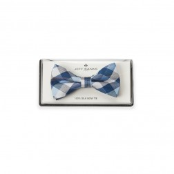 GINGHAM CHECK SILK BOW TIE