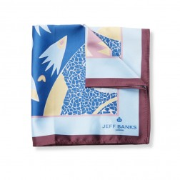 ABSTRACT PRINT POCKET SQUARE