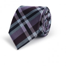 PLAID CHECK SILK TIE