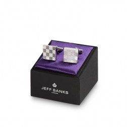JEFF BANKS CHECKERED CUFFLINK