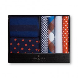JEFF BANKS SOCK & HANDKERCHIEF GIFT PACK