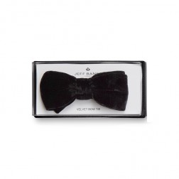 JEFF BANKS VELVET BOW TIE