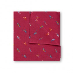 JEFF BANKS BIRDS OF PARADISE POCKET SQUARE