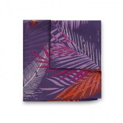JEFF BANKS PALM LEAF PRINT POCKET SQUARE