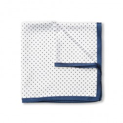 SPOT BORDER POCKET SQUARE