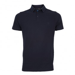 MERCERISED TEXTURED JACQUARD POLO