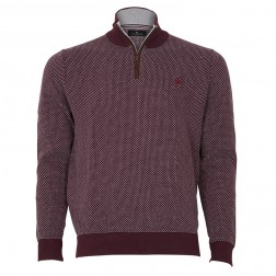 HALF ZIP V STITCH KNIT