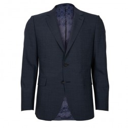 IVY LEAGUE TONAL FINE HOPSACK SLIM SUIT JACKET