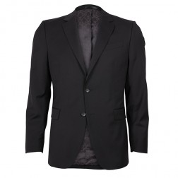 IVY LEAGUE DIAMOND TEXTURE BLACK SLIM SUIT JACKET
