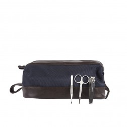 CANVAS TOILETRY BAG & MANICURE SET