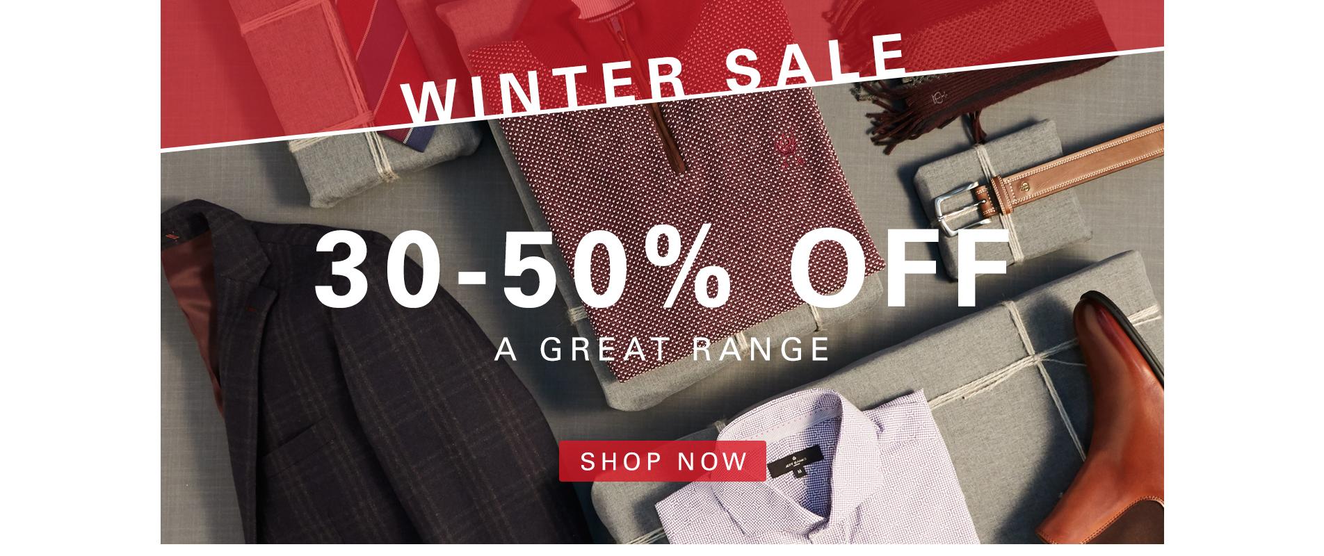 30-50% off Sale